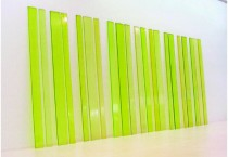 "Green Planks, 2005. cast sugar. 21 planks,ea. 78""x 4""-7.5"""