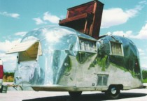 Willie Ray Parish, Undeterred, They Continued Driving South, 2001, vintage trailer, piano, with audio, 2001